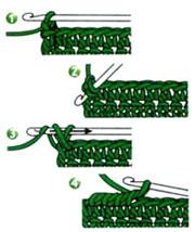 Рачий шаг схема вязки