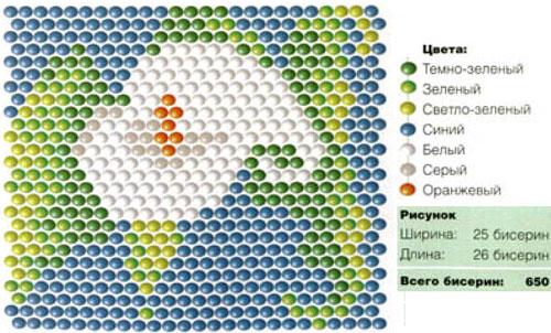 смайлики: схема плетения