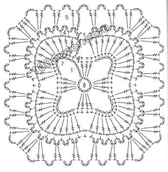 Красивые узоры со схемами для вязания крючком.