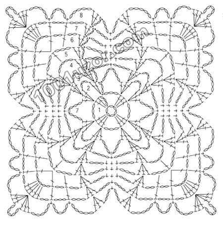 Схемы, узоры вязания крючком 4