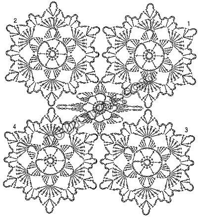 Красивые узоры со схемами для вязания крючком, шарфы узоры. схемы узоров...