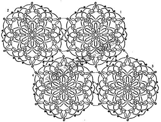 Красивые узоры со схемами для вязания крючком. узоры для вязания.
