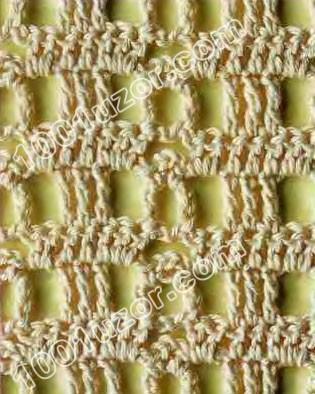 ажурные узоры из листьев спицами со схемами.