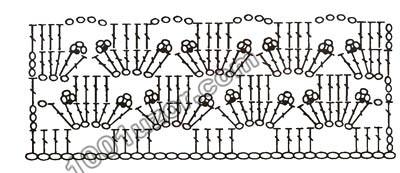 Схема вязания крючком 8.