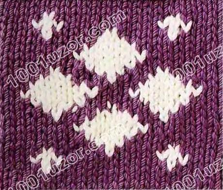 Цветное вязание-интарсия, узор 16.