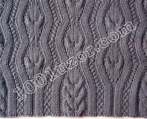 Описание: схемы вязания спицами узоры косы и ромбы