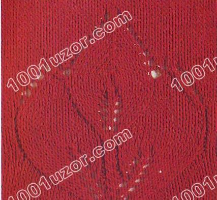 Knitting patterns book 250 (Узоры по вязанию спицами. узор листья.