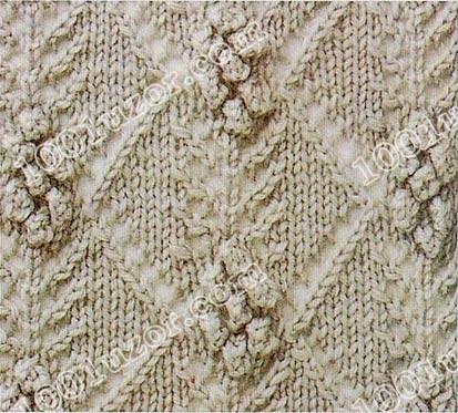 Черемуха иИгрушка Бечевка Гипс 1001 узор спицами вязание