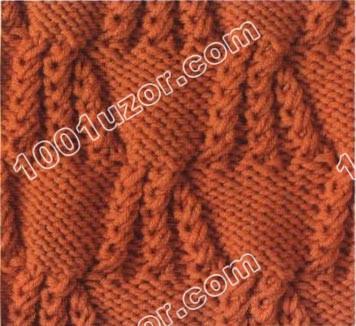 Узор жучки для вязания на спицах