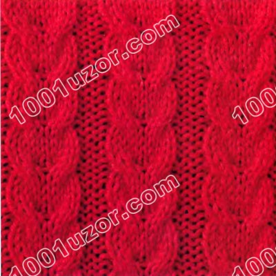 Рхема узора коса / кельтская косичка / для вязания спицами.