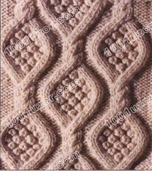 1001 узор узоры спицами ирландские узоры аранское вязание узор 1 11