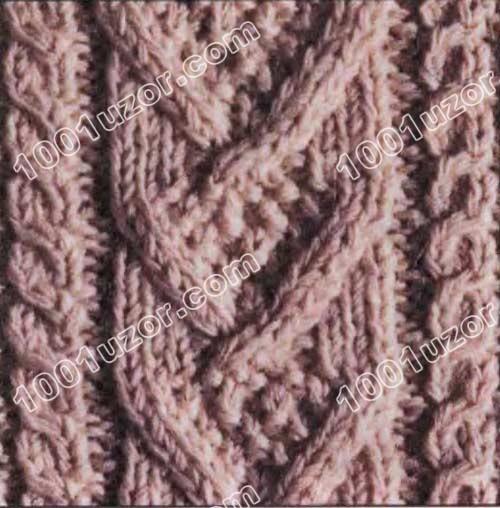 Ирландские узоры (аранское вязание), узор 13.