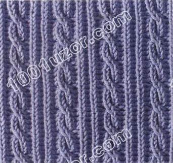 Узоры для вязания косы (косички) спицами