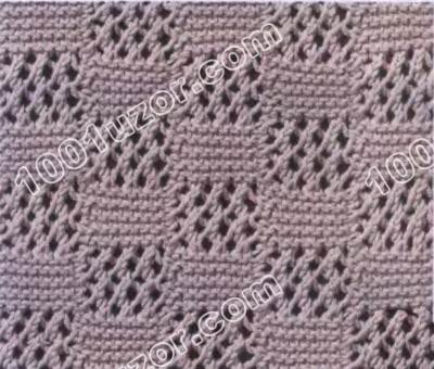Рхема вязания узора для шарфа спицами.